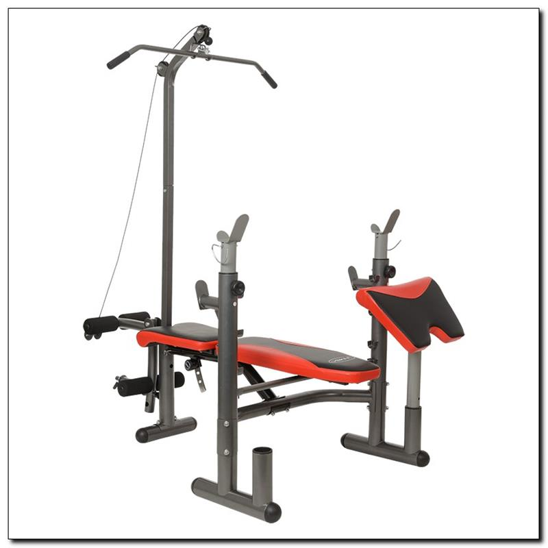LS5730 HMS - weight lifting bench with lat tower