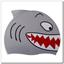 SHARK Spurt silicone swim cap SHARK Spurt silicone swim cap SHARK Spurt silicone swim cap